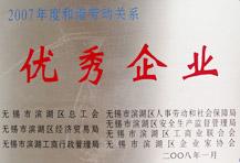 2007年度和谐劳动关系 优秀企业